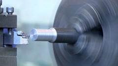 Industrial Lathe - Shading Steel Stock Footage