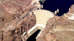 Hoover Dam Water Mountains - stock footage