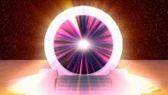 Cosmic Stargate into another Dimension - Kosmisches Sternentor HD Stock Footage