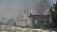 Stock Video Footage of California Wildfire House Burning
