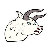 Stock Illustration of cartoon angry bull head