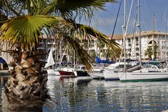 Port of Fréjus in France - stock photo