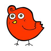 funny cartoon bird - stock illustration