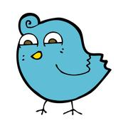 cartoon funny bird - stock illustration
