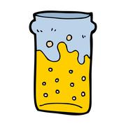 Stock Illustration of cartoon pint of beer
