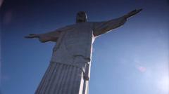 Cristo redentor. Rio de Janeiro. Brazil Stock Footage