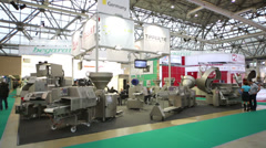 Demonstration of machines at AgroProdMash in Expocentre. Stock Footage