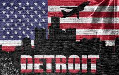 detroit city - stock illustration