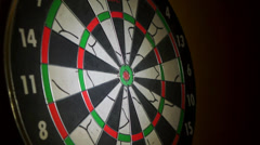 You hit the bull's-eye. Darts - stock footage