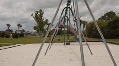 Empty swings - stock footage