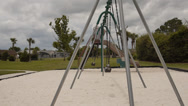 Stock Video Footage of Empty swings