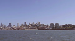 San Francisco City scape from water slow motion Stock Footage
