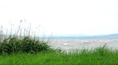 Very strong wind at Lake Balaton, Hungary Stock Footage