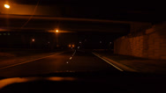 Stock Video Footage of night driving