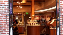 Buyers at Ghirardelli Company Chocolate Shop. San Francisco, California, USA. Stock Footage