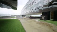 Modern building of Russian Business School Skolkovo Stock Footage