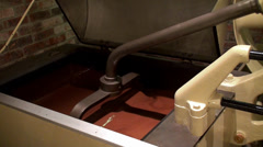 Work of Chocolate Factory. Melanger Mixing mashine. Stock Footage
