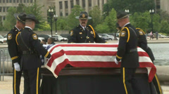 Law Enforcement Funeral Demonstration  Stock Footage