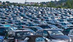 Automobiles on parking - stock photo