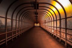 Hallway with brigh light Stock Photos