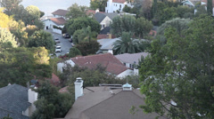 Silver Lake Reservoir with Houses in Background - stock footage