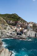 manarola - one of the cities of cinque terre in italy - stock photo