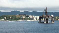 Brazil - Oil Rig In Rio de Janeiro Stock Footage