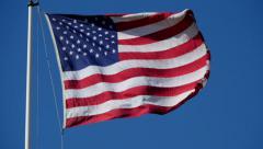 Flag USA 02 - stock footage