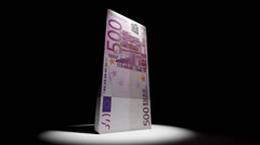 Euro Currency Deflate Deflation Animation Stock Footage