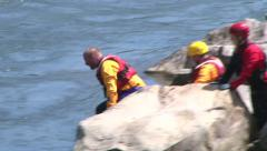 River Rescue Ropes 1 Stock Footage