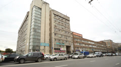 Office building at Nizhegorodskaya st, 32 in Moscow Stock Footage