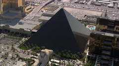 Luxor Hotel Las Vegas Strip Stock Footage