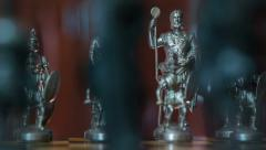 Chess figures dolly DOV changing background light 11358 Stock Footage