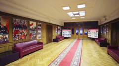 Carpet in hallway of State Duma. Duma consists of 450 deputies. Stock Footage
