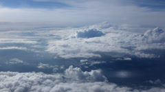 Stock Video Footage of Aerial of Clouds from an Airplane