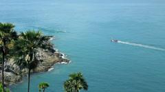 Promthep cape, Phuket Island, Thailand Stock Footage