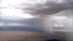 Rain Clouds Desert Plateau Stock Footage