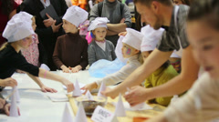 Master class on cooking at sixth gastronomic festival Stock Footage