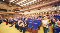 Spectators await start of anniversary concert Edyta Piecha Stock Footage