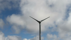 Wind turbine Isle of Lewis Scotland Stock Footage