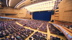 Audience before anniversary concert Edyta Piecha Stock Footage