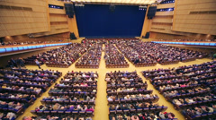 Top view of many people before anniversary concert Edyta Piecha Stock Footage