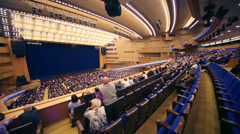 Many people at balcony before anniversary concert Edyta Piecha Stock Footage
