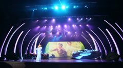 Edita Piecha on stage at anniversary concert of Edita Piecha Stock Footage