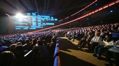 Many people listen at anniversary concert of Edita Piecha Stock Footage