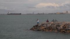Fortaleza, linha e pesca Stock Footage