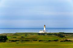 Turnberry lighthouse in Scotland - stock photo