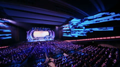 Audience and perform on stage at concert of Edita Piecha Stock Footage