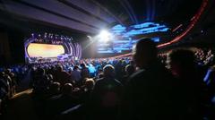 Spectators stand up at anniversary concert of Edita Piecha Stock Footage