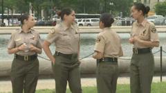 U.S. Customs and Border Patrol's Explorers  Stock Footage